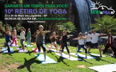 Garanta um Tempo Para Você em Nosso 10º Retiro de Yoga em Lagoinha – SP